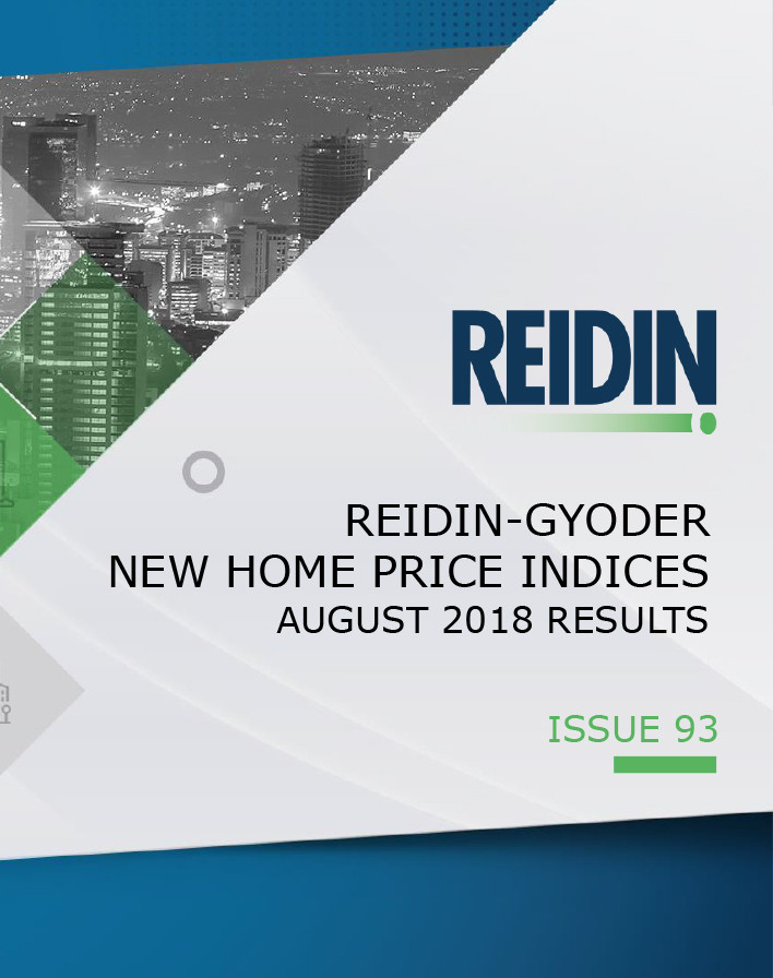 REIDIN-GYODER New Home Price Index: August 2018 Results