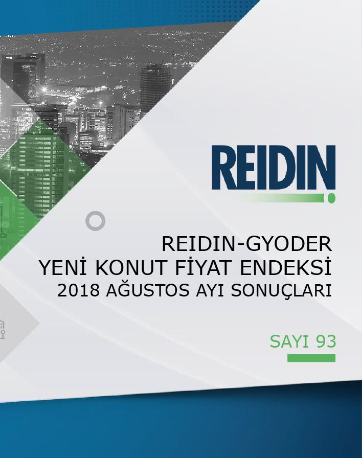 GYODER, Yeni Konut Fiyat Endeksi'nin Ağustos 2018 Raporu'nu açıkladı.