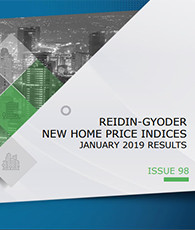 GYODER has announced the January 2019 Report of the New Home Price Index.