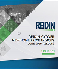 GYODER has announced the June 2019 Report of the New Home Price Index.
