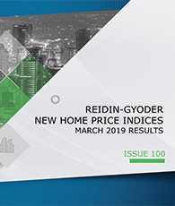 GYODER has announced the March 2019 Report of the New Home Price Index.