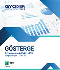 GYODER Gösterge Türkiye Gayrimenkul Sektörü 2018 1. Çeyrek Raporu