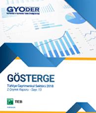 GYODER Gösterge Türkiye Gayrimenkul Sektörü 2018 2. Çeyrek Raporu