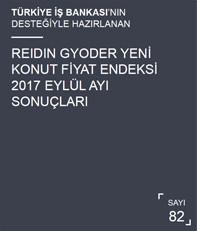 REIDIN-GYODER Yeni Konut Fiyat Endeksi 2017 Eylül Ayı Sonuçları