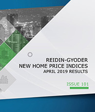 GYODER has announced the April 2019 Report of the New Home Price Index.