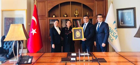 Borsa İstanbul Başkanı Sn. Prof. Dr. Erişah Arıcan Ziyareti
