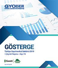 GYODER Gösterge Türkiye Gayrimenkul Sektörü 2019 1. Çeyrek Raporu
