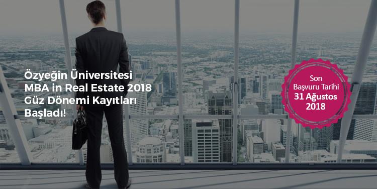 """Özyeğin Üniversitesi İşbirliğiyle """"MBA in Real Estate"""" Yüksek Lisans Programı"""