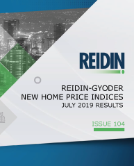 GYODER has announced the July 2019 Report of the New Home Price Index.