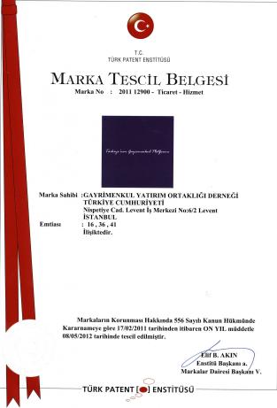 Marka Tescil Belgesi 2011
