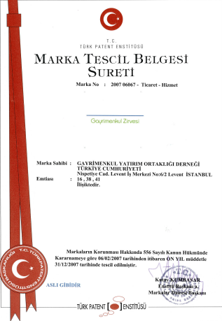 Marka Tescil Belgesi Sureti 2007