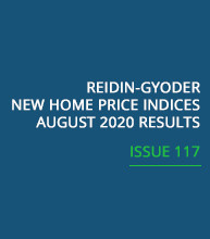 REIDIN-GYODER New Home Price Index: August 2020 Results