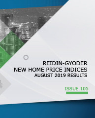 GYODER has announced the August 2019 Report of the New Home Price Index.